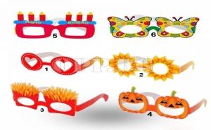 6 Броя Парти Очила с Различни Дизайни