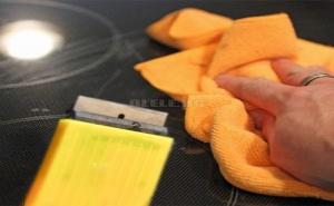 Нож Стъргало за Почистване на Керамични Плотове