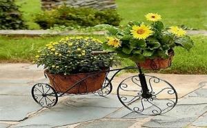 Декоративен Метален Велосипед Кашпи
