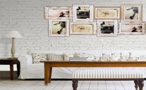 Винтидж Пано с Бели Рамки за Снимки