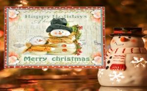 Коледно Плато за Сервиране Снежен Човек