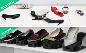 Органайзер за Обувки с Регулираща се Височина