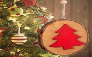 Дървено Коледно Украшение Елхичка