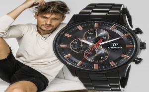 Time Piece Мъжки Часовник с Каишка от Неръждаема Стомана