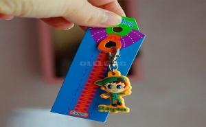 Детски Ключодържател за Цип или Чанта Zip Amis Момченце със Зелена Шапка