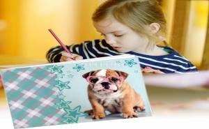 Блокче за Рисуване с Кученце