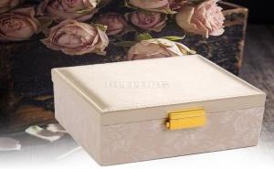 Елегантна Кутия за Бижута с Дантела и Сатен