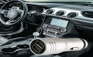 Метално Usb Зарядно за Кола с 2 Порта