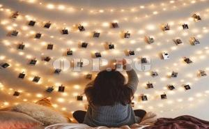 60 Броя Led Лампички с Мини Щипки за Снимки