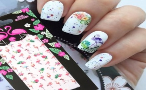 Декоративни Стикери за Маникюр Фламинго