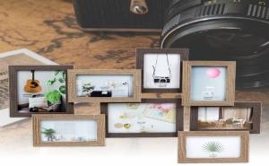 Дървена Рамка за 8 Броя Снимки