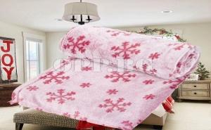 Супер Меко и Топло Поларено Одеяло със Снежинки
