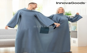 Двойно Одеяло с Ръкави с Централен Джоб Doublanket Innovagoods