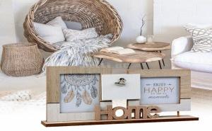 Рамка за Снимки Home Дървена (3 Снимки)