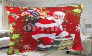 Красива Коледна Възглавница Дядо Коледа