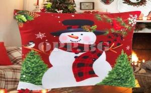 Коледна Възглавница Снежко