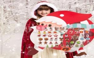 28 Чифта Коледни Стикери - Обеци