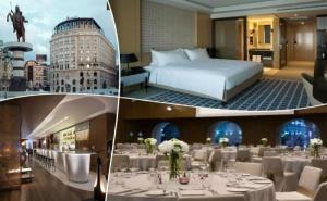 Нова Година 2020 в Spa Hotel Marriott*****, <em>Скопие</em>, Македония! 2 или 3  Нощувки на човек със Закуски, Празнична Вечеря от Та Трипс Ту Гоу