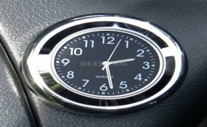 Кръгъл Мини Часовник за Кола