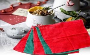 Комплект 5 Броя Микрофибърни Кърпи в Коледни Цветове