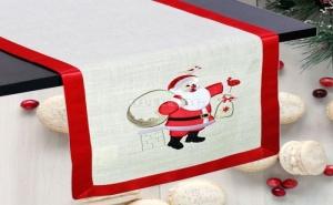 Ленен Коледен Тишлайфер Дядо Коледа