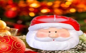 Керамична Свещичка Глава на Дядо Коледа