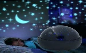 Страхотен Въртящ се Детски Led Проектор Stars