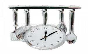 Оригинален Подарък за Готвача! Стенен Часовник с Кухненски Прибори