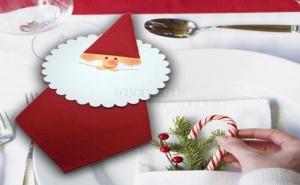 Коледни Салфетки с Декорация Дядо Коледа