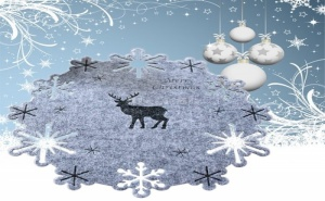 Коледна Подложка за Хранене Елен