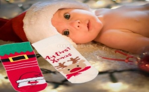 Сладурски Бебешки Коледни Чорапки My First Christmas
