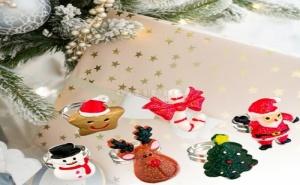 Страхотен Комплект 6 Броя Коледни Пръстени