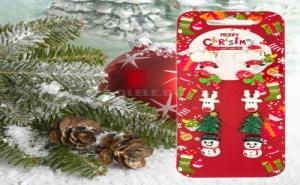Комплект 5 Чифта Супер Забавни и Нестандартни Коледни Обеци