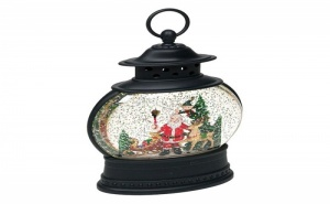 Уникален Декоративен Led Фенер Дядо Коледа с Шейна