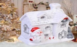 Много Сладка Поставка за Чаени Свещи Къщичката на Снежния Човек