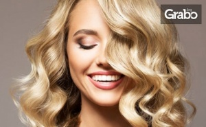 Боядисване на Коса с Боя на Клиента и Подстригване, Плюс Оформяне със Сешоар