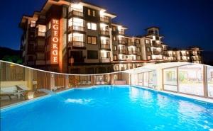 Нощувка на човек със Закуска + Басейн и Релакс Зона в Луксозния Хотел Сейнт Джордж Ски & Холидей****, <em>Банско</em>