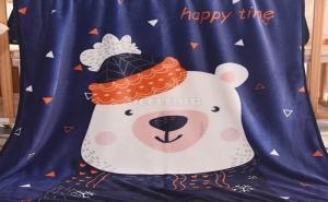 Пухкаво Детско Одеяло Bear Print Blanket