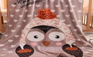Меко Детско Одеяло Penguin Print Blanket