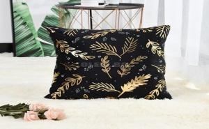 Декоративна Калъфка за Възглавница Leaf Overlay Print Cushion Cover