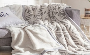 Уникално Меко и Топло Одеяло Flower Print Blanket
