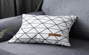 Бяла калъфка за възглавница Geometric Print Pillowcase Cover
