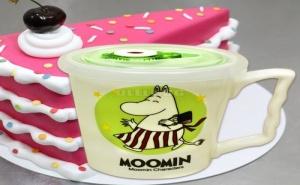 Порцеланова Чаша с Вакуумираща Капачка Moomin
