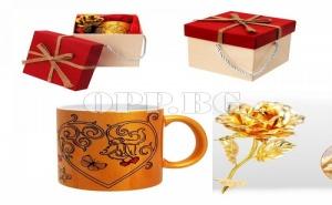 Уникална Златна Роза Плюс Златна Чаша в Супер Луксозна Кутия