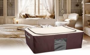 Текстилна Кутия за Съхранение на Дрехи с Метална Рамка