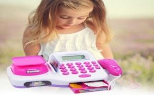 Детски Касов Апарат с Дисплей на Батерии