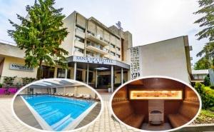 Делник в хотел Сана Спа****, Хисаря! Нощувка за ДВАМА със закуска + минерален басейн и СПА пакет. ДЕТЕ ДО 12г. БЕЗПЛАТНО!