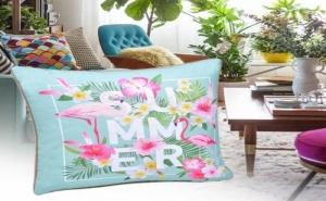 Декоративна Възглавница Фламинго Summer