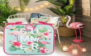 Тропическа Възглавница за Стол Фламинго