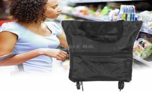 Сгъваема Чанта за Пазаруване с Колелца